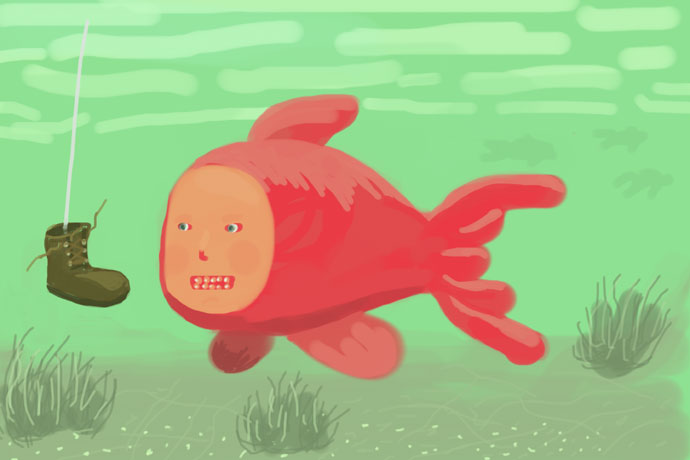 Fishy iphone doodle